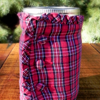 No-Sew Mason Jar Sleeve