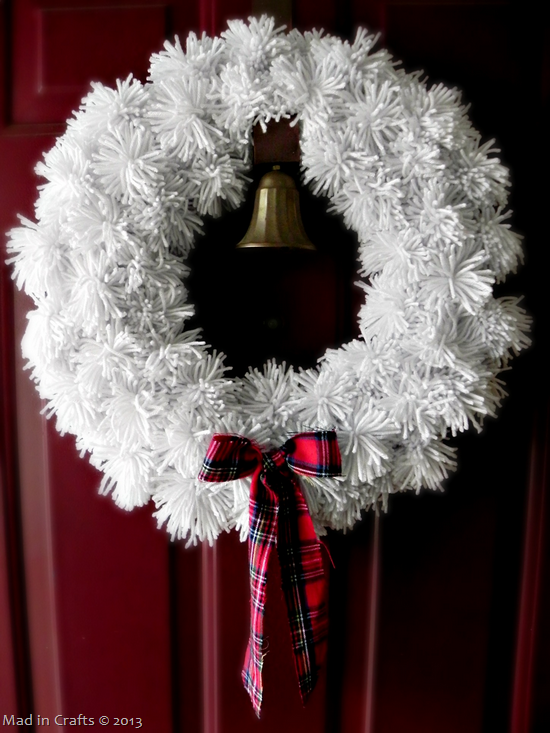 Winter Yarn Pom Wreath Mad In Crafts