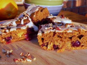 Pumpkin Cranberry Pecan Bars