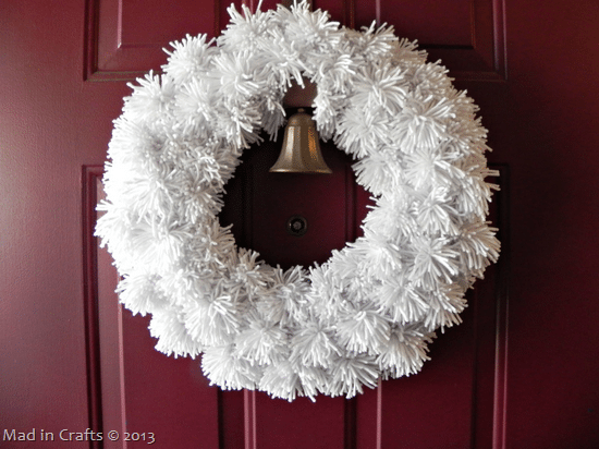 Winter Yarn Pom Wreath
