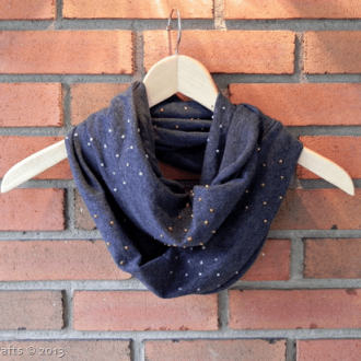 Faux Studded Infinity Scarf
