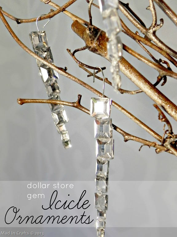 Easy Gem Icicle Ornaments Mad In Crafts
