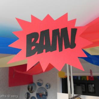 Homemade Superhero Party Decorations