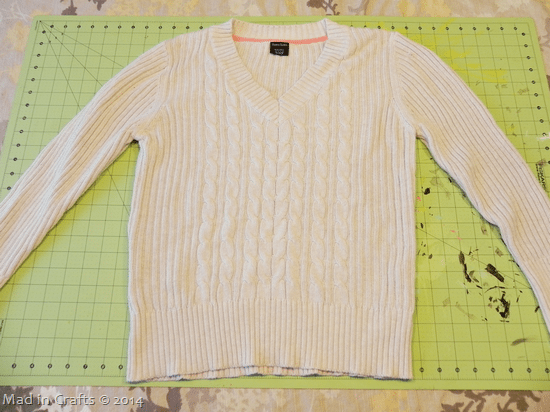 Sweater to Cardigan