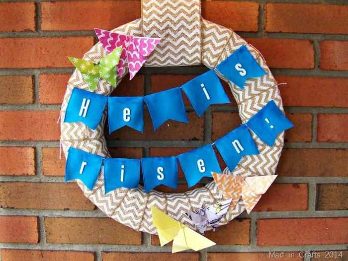 Easter butterfly wreath
