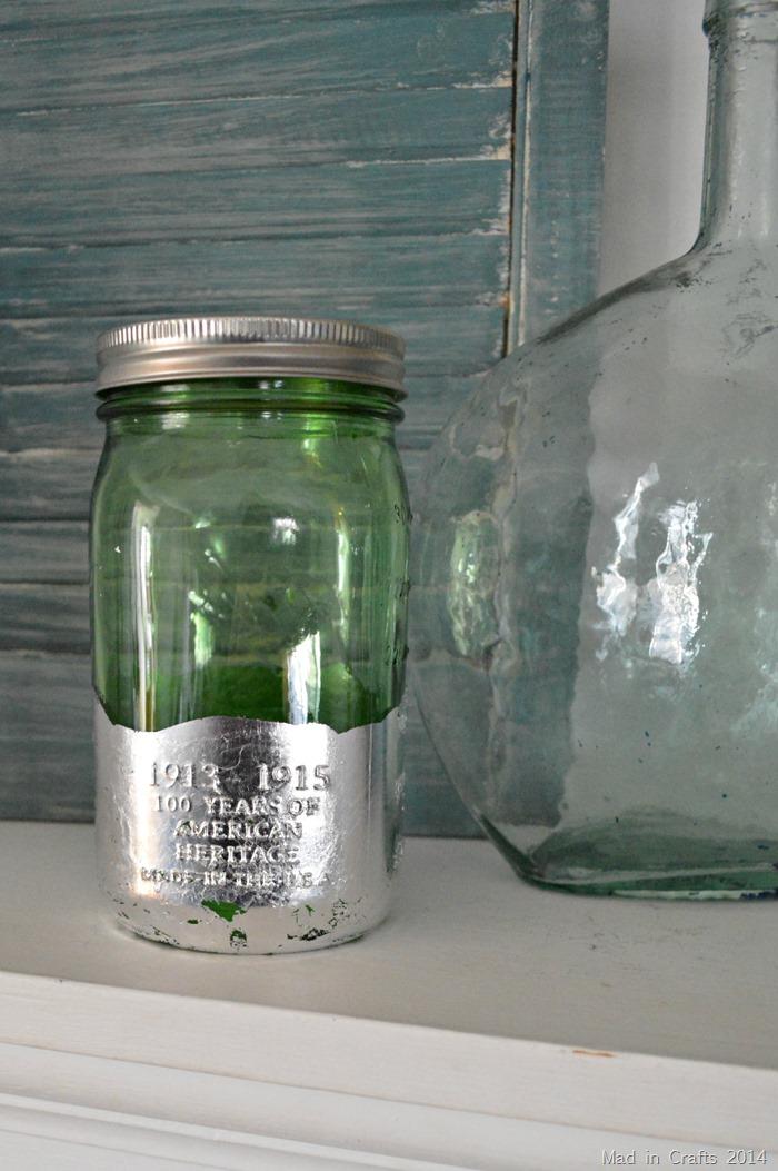 Foiled Mason Jar