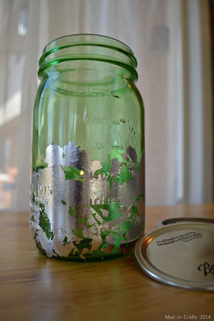 Gilded Mason Jar Candle Holder Tutorial
