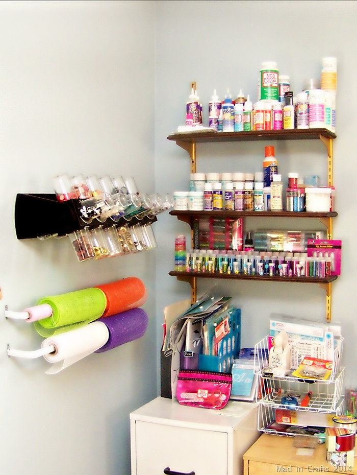 Work Room Shelving - Mad in Crafts