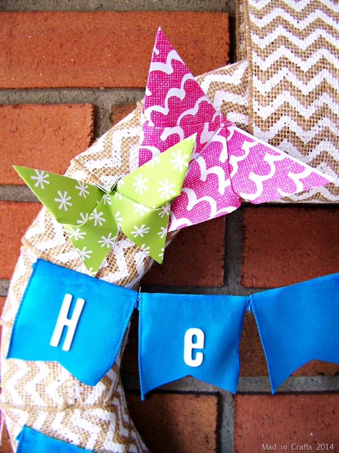 origami butterfly easter wreath