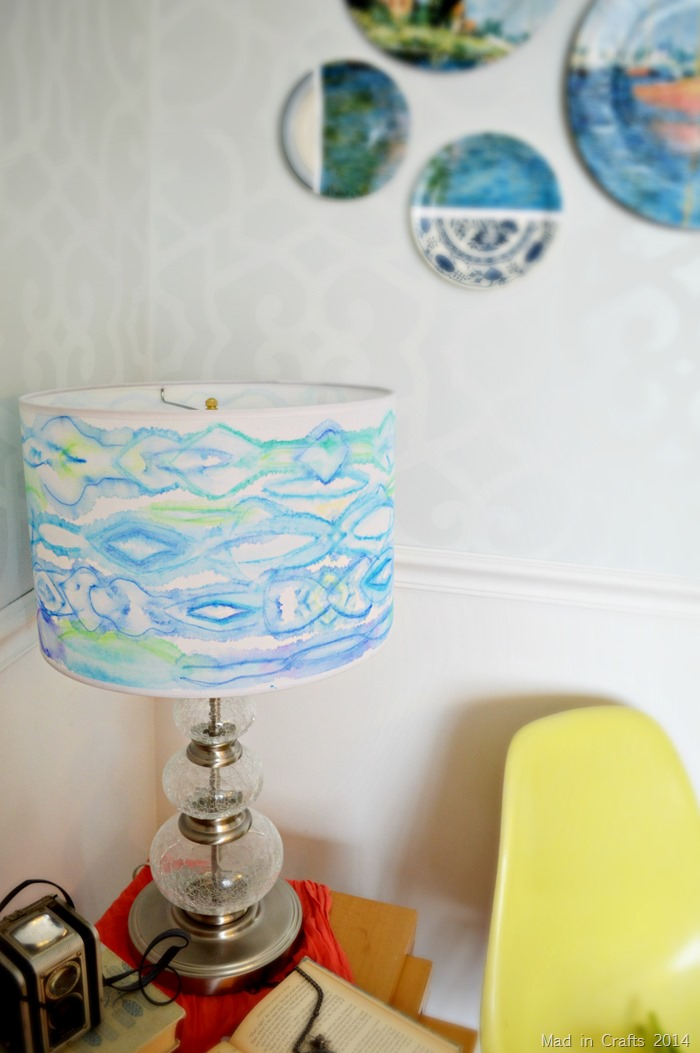 watercolored lampshade