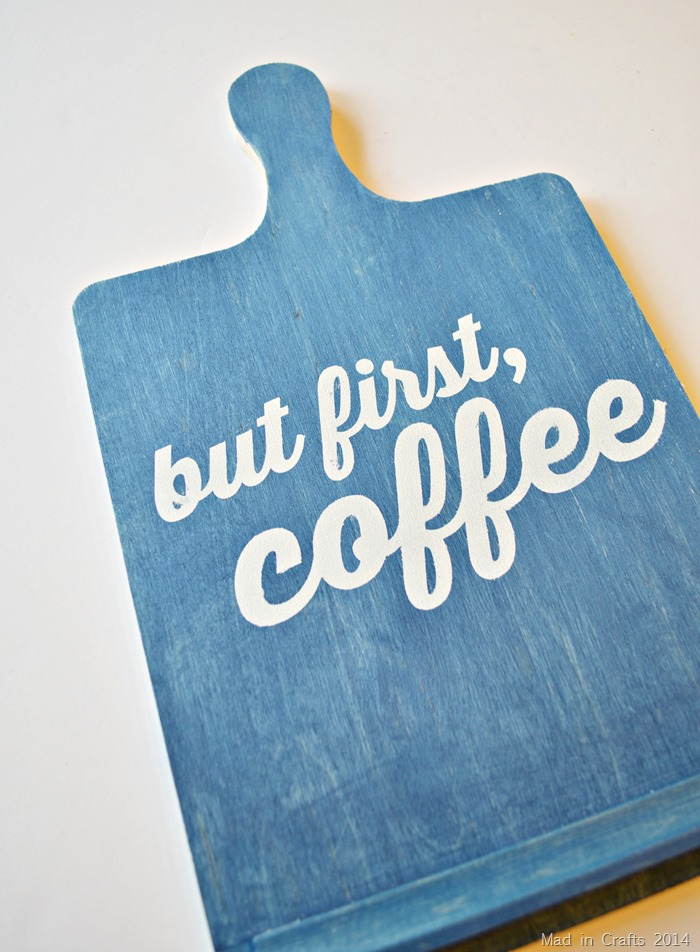 But First Coffee Sign remove stencil
