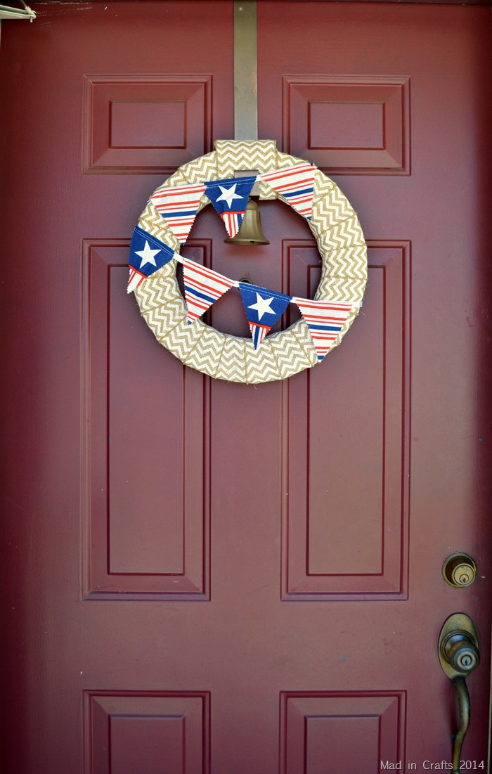 Quick Patriotic Front Door Wreath