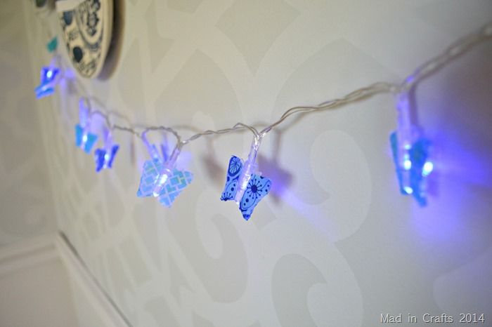 Washi Tape Butterfly Lights