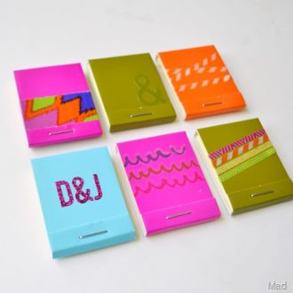 MATCHBOOK STICKY NOTE FAVOR OR SAVE THE DATE