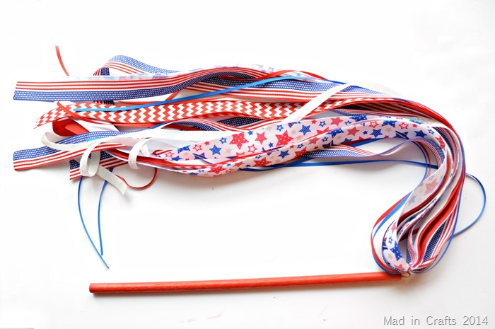 Fourth of July Ribbon Wand