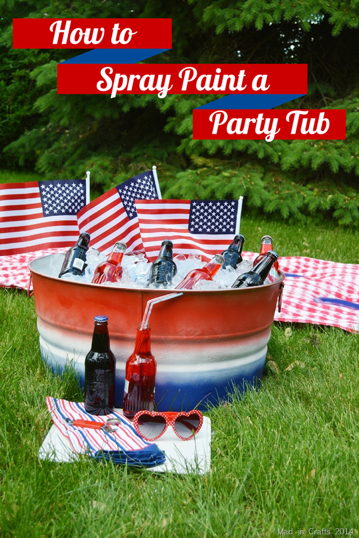 How to Spray Paint a Party Tub