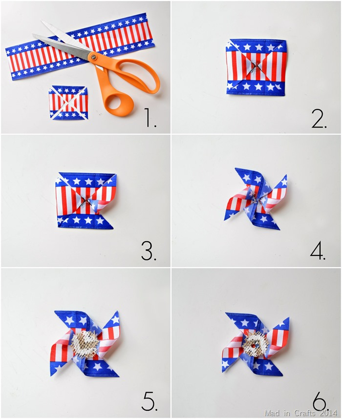 Make a Patriotic Pinwheel Pin
