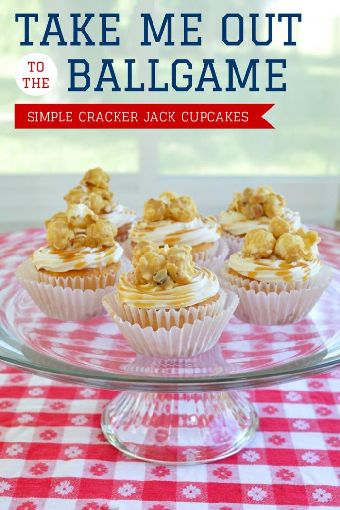 Simple Cracker Jack Cupcakes