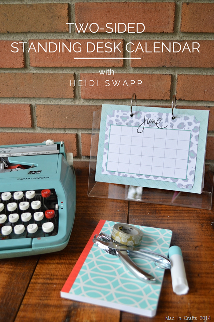 Two Sided Standing Desk Calendar with Heidi Swapp