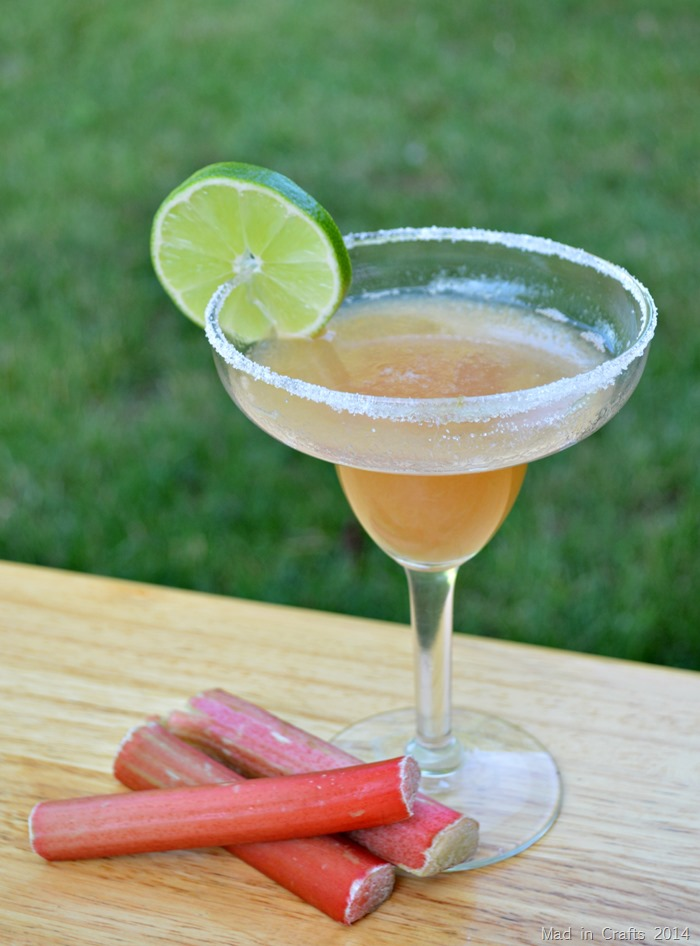 Fresh Rhubarb Margarita
