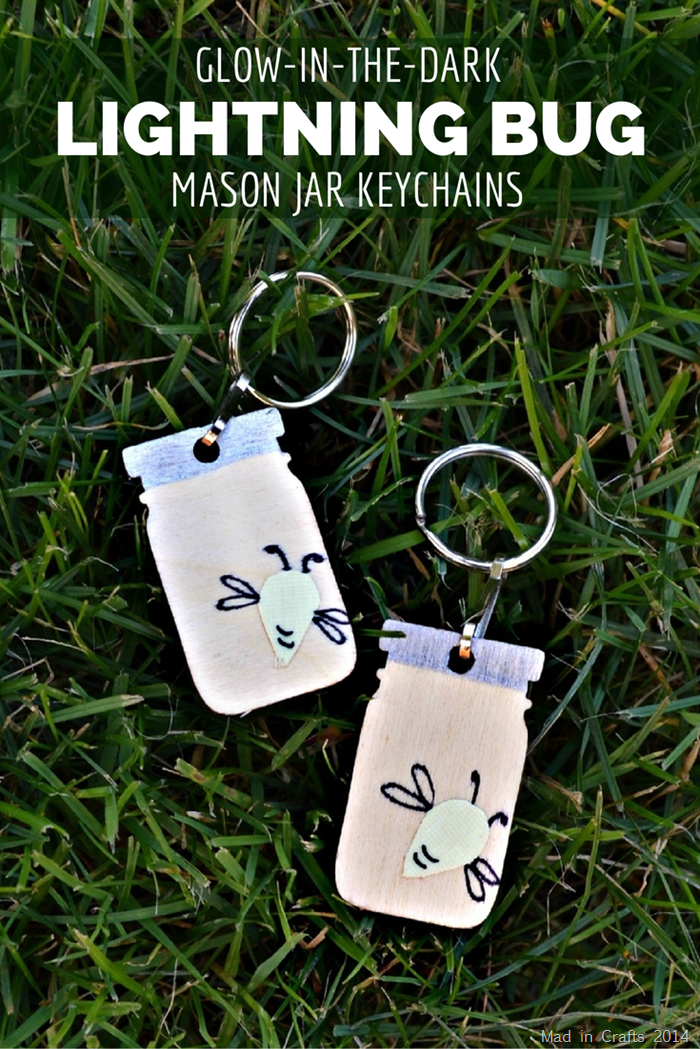 Glow in the Dark Lightning Bug Mason Jar Keychains