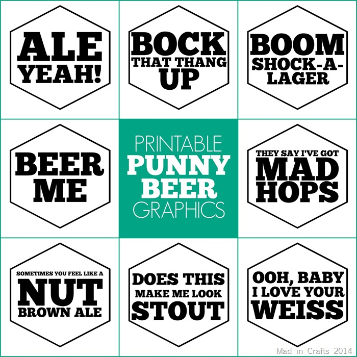 Printable Beer Party Signs