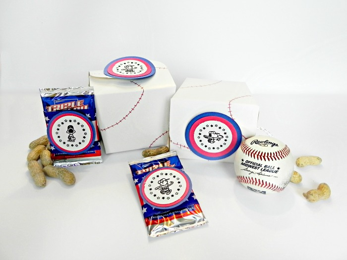 baseball party favor boxes