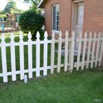 SPRAY PAINTING A PICKET FENCE