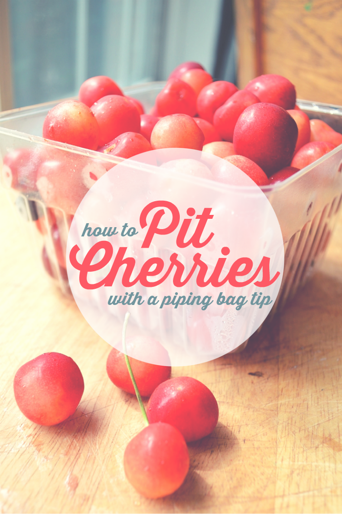 PITTING CHERRIES WITH A PIPING TIP Mad in Crafts
