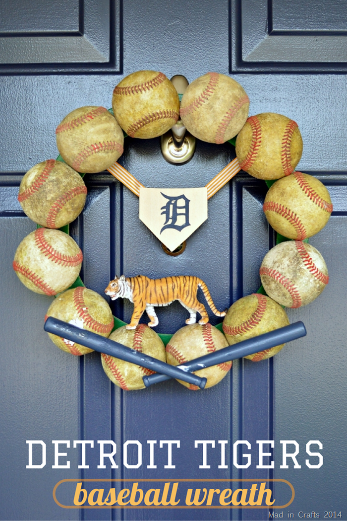 DETROIT TIGERS VINTAGE METAL ROCKER