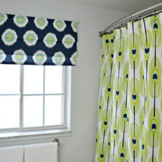 HOW TO SEW A FAUX ROMAN SHADE