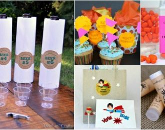 DIY PARTY CRAFTS USING PRINTABLE LABELS