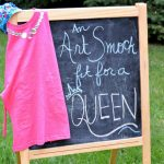 AN ART SMOCK FIT FOR A QUEEN