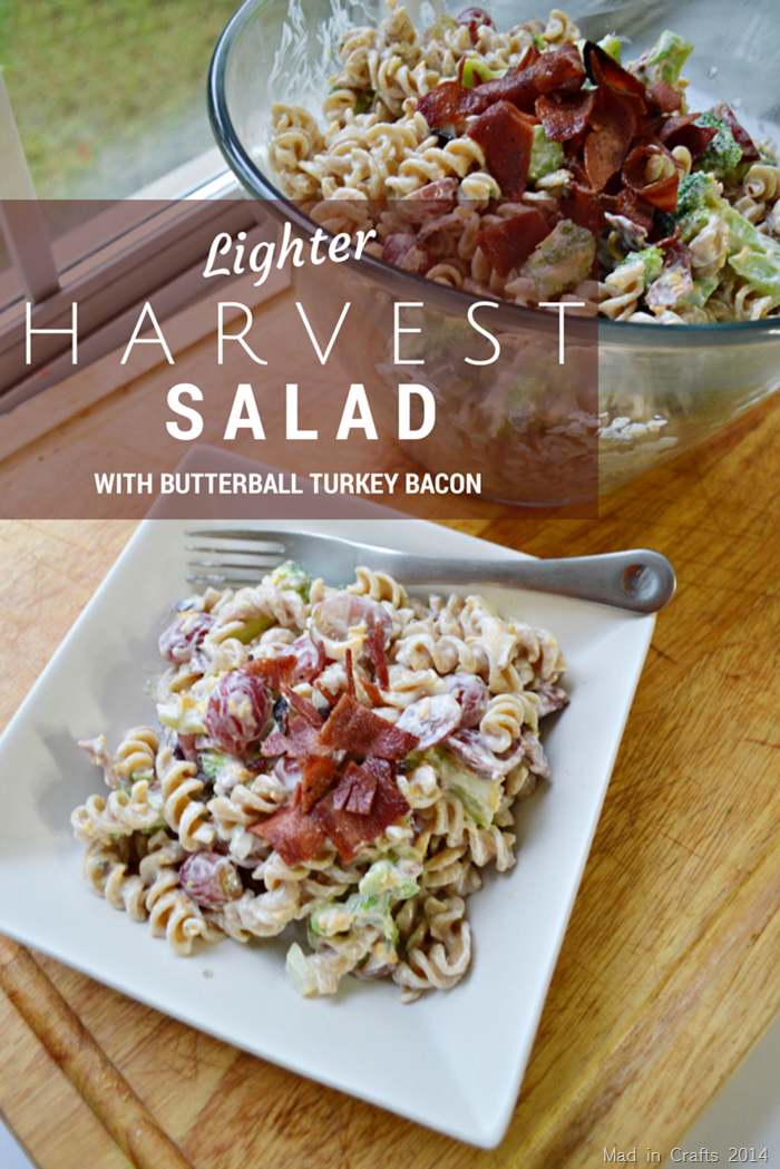 Lighter Harvest Pasta Salad Recipe