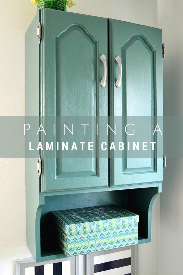 Painted Bathroom Storage Cabinet Mad In Crafts