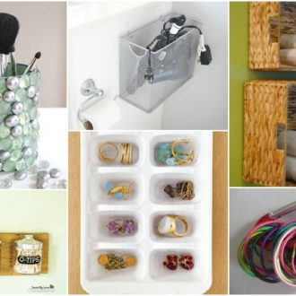 ORGANIZE YOUR BATHROOM WITH ONE TRIP TO THE DOLLAR STORE