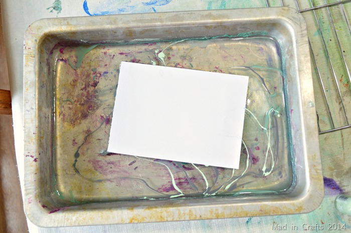 place paper on water