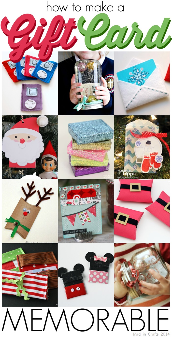 20 Ways to Make a Gift Card Memorable - Mad in Crafts