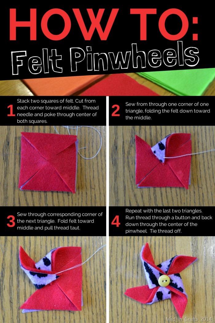 Felt Pinwheels