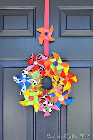 carnival themed craft ideas on crafts for felt pinwheel wreath mad in crafts 3509