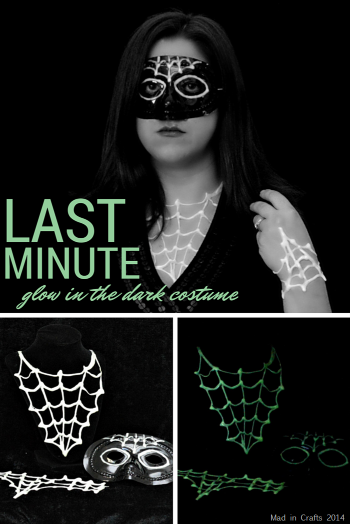 Last Minute Glow in the Dark Halloween Costume