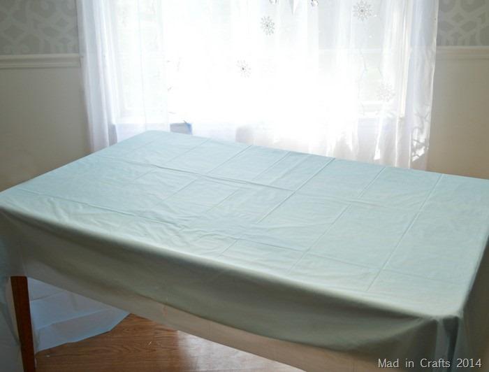 Light Blue Tablecloth