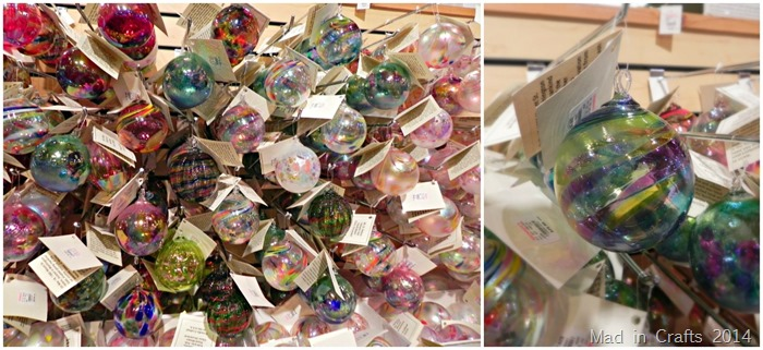 bronners glass ornaments collage