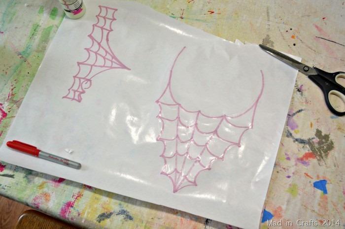 draw spider web shape