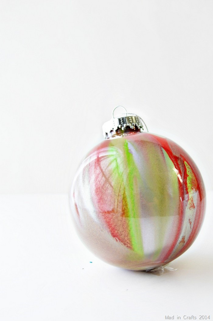 marble spray paint ornament