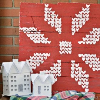FAIR ISLE FAUX PALLET SIGN