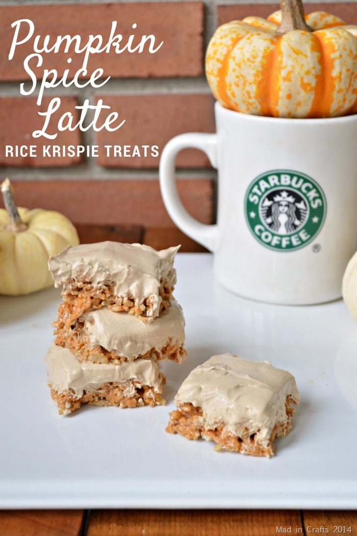 PUMPKIN SPICE LATTE RICE KRISPIE TREAT RECIPE