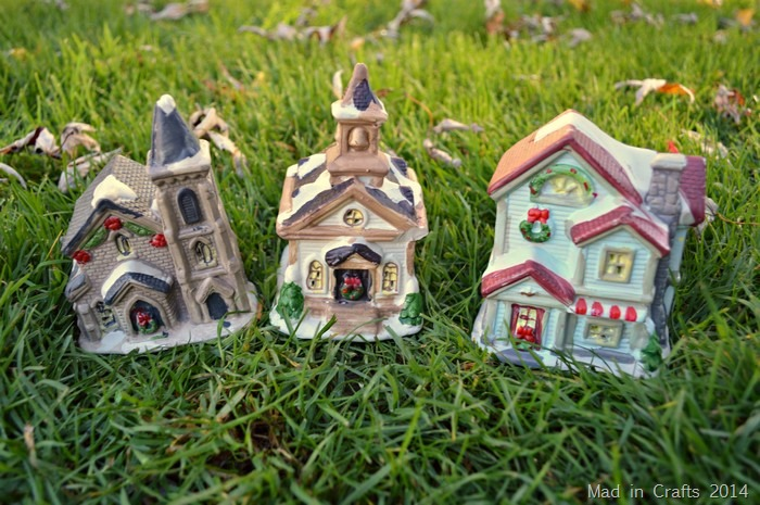 How To Store Christmas Village Houses.Turn Dollar Store Houses Into A Sparkling Miniature