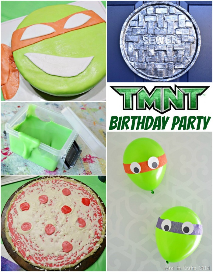 Homemade TMNT Birthday Party