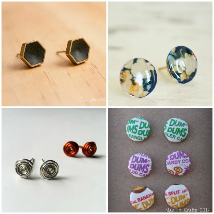 20 Diy Stud Earring Tutorials Mad In Crafts